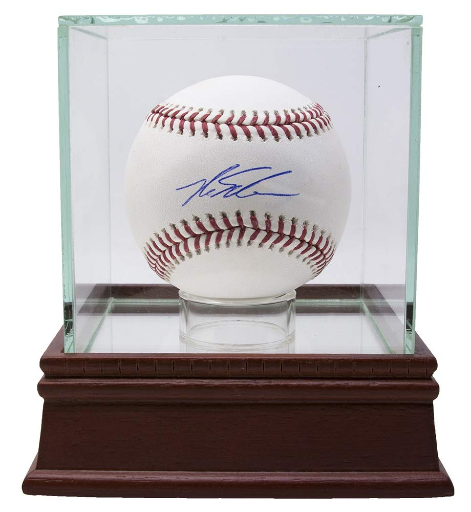 Kyle Schwarber Cubs Signed Official MLB Baseball BAS w/Glass Display Case
