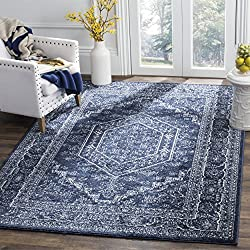 Safavieh Adirondack Collection ADR108N Navy and Ivory Oriental Vintage Medallion Area Rug (8' x 10')