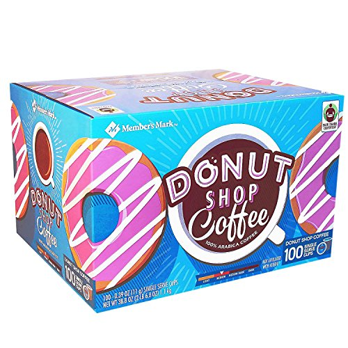 Member's Mark Donut Shop Coffee 100 single-serve cups. (pack of 4) A1 -