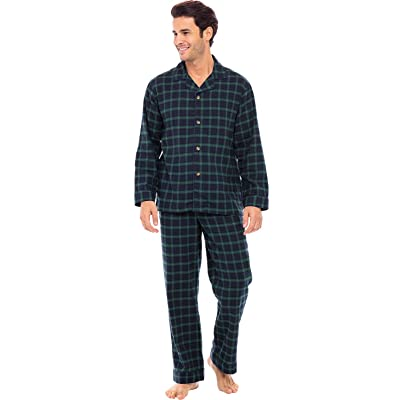 Mens Easy Care Polycotton Classic Long Pyjama Lounge Wear