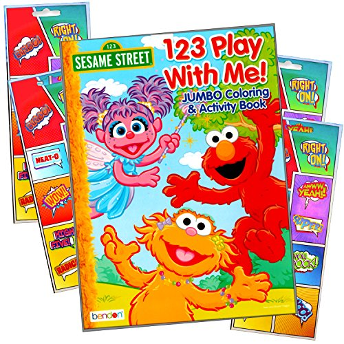 Sesame Street Coloring Book with Stickers