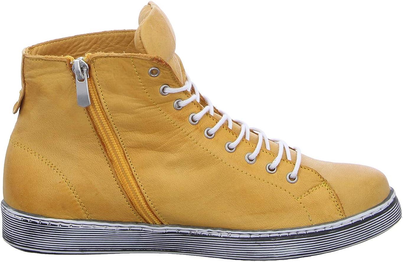 Andrea Conti Damen 0341500 Hohe Sneaker Gelb Ocker 116