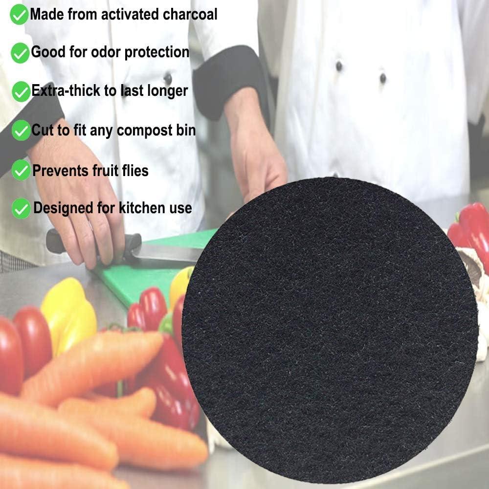 Amazon.com: Juego de 12 filtros redondos de carbón de ...