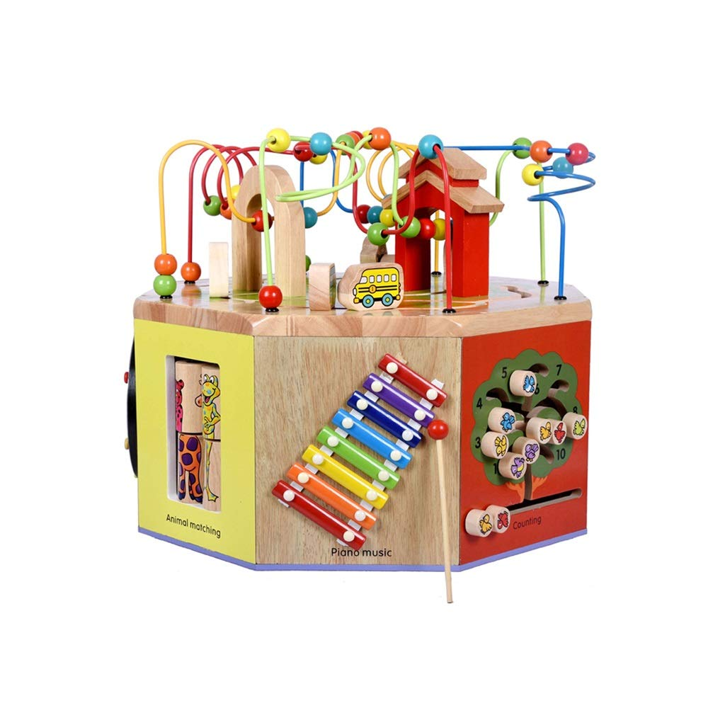 LIUFS-おもちゃ 子供用ビーズ宝箱パズル早期学習六面体玩具ギフト ( Size : S s )   B07NL15NPJ