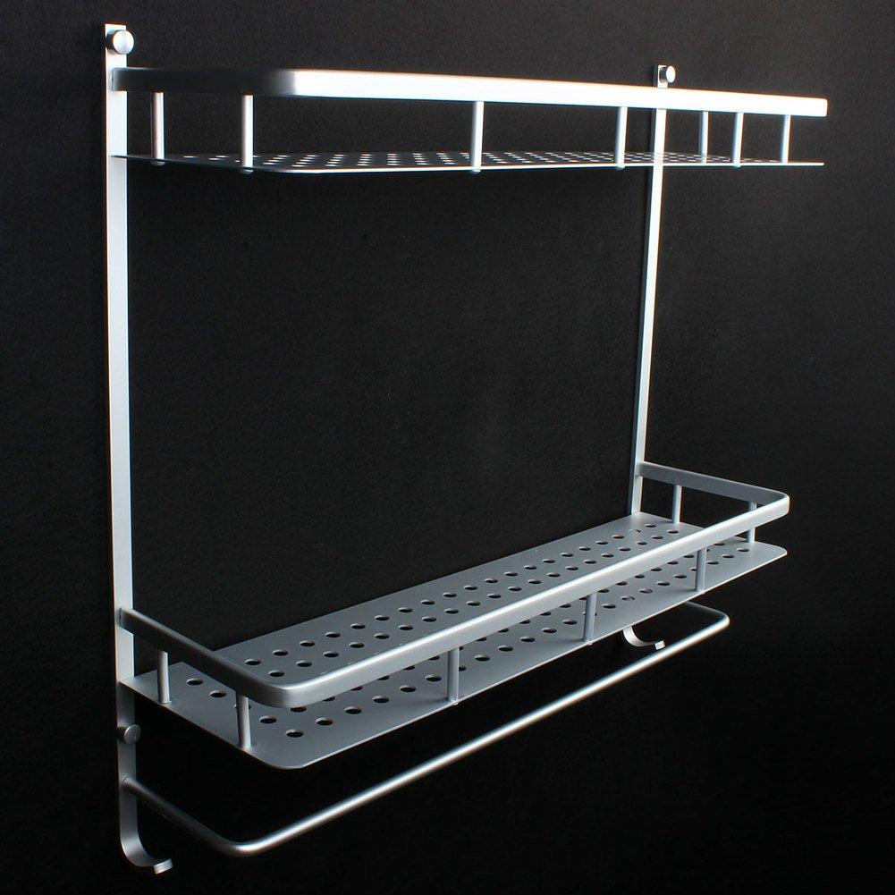 Bathroom racks/space aluminium towel rail/Bathroom/toilet storage rack-C 50%OFF