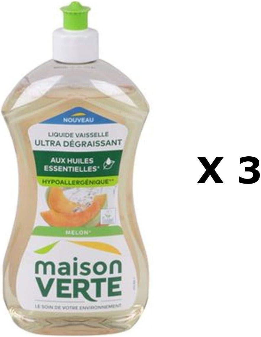 Maison Verte Lot de 3 – Líquido lavavajillas Super desengrasante ...