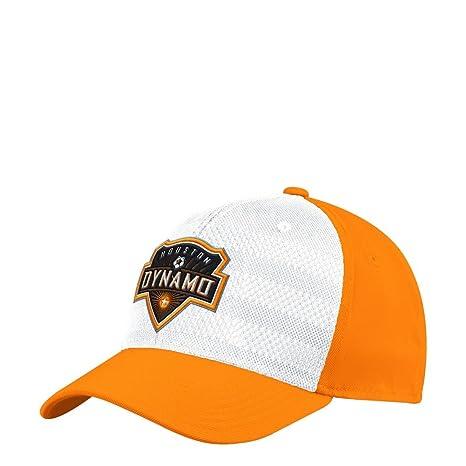 sale retailer d77ef 66cec adidas Houston Dynamo Hat Authentic Structured Flex Fitted Hat (S M)