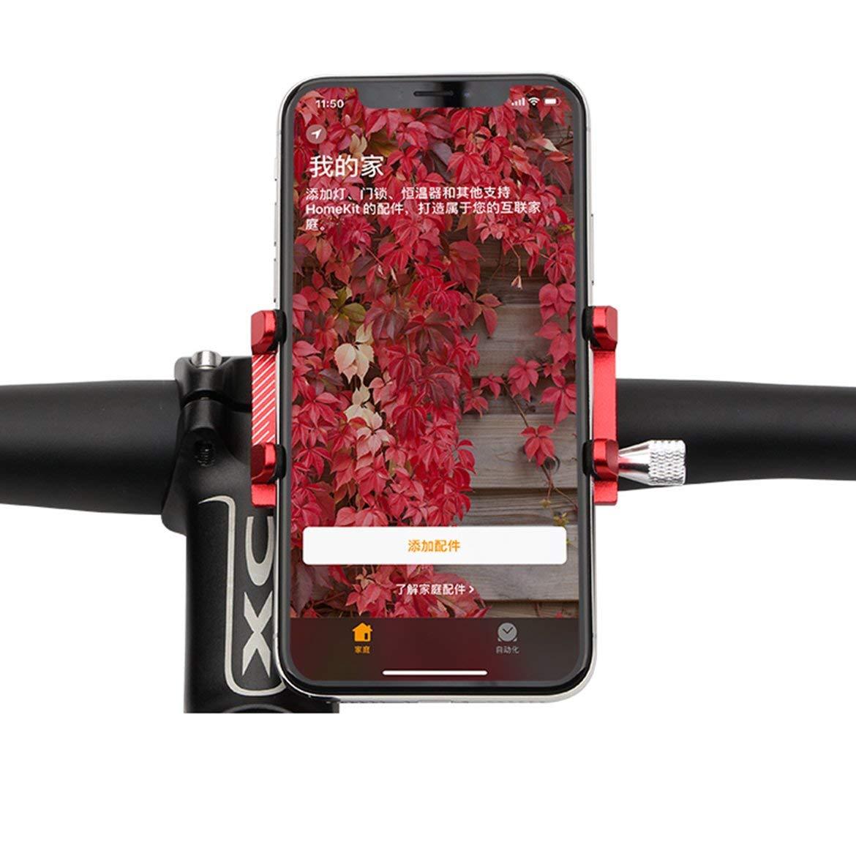 JohnJohnsen GUBAluminum aleaci/ón de Bicicletas Soporte para tel/éfono G-81 Accesorios de la Bicicleta Rojo