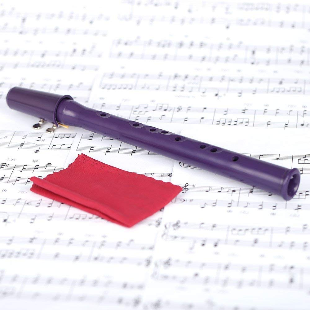 Andoer Mini Saxophone Pocket Sax Eb Plastic with Ligature Reed Music Score Gig Bag Purple by Andoer