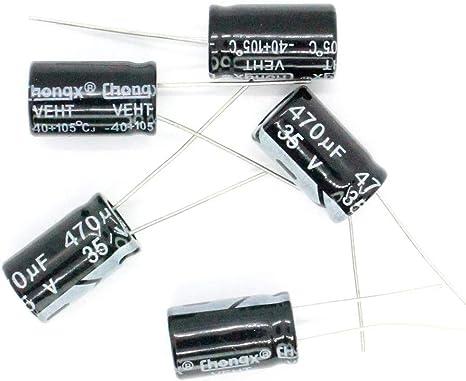 lot de 10 Condensateur chimique 470 µF