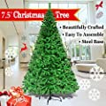 NEW 5' 6' 7' 7.5' Green Classic Pine Christmas Tree Artificial Realistic Natural Branches-Unlit With Metal Stand (7.5' Green)
