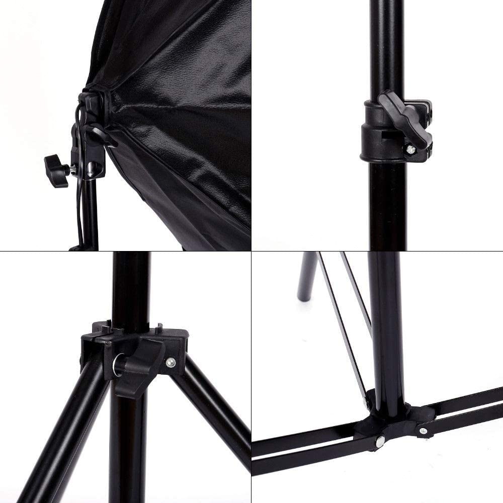 Professional Photo Studio with 2pcs Softbox Light Kit Photography Continuous Lighting Stand Set with Convenient Carry Bag