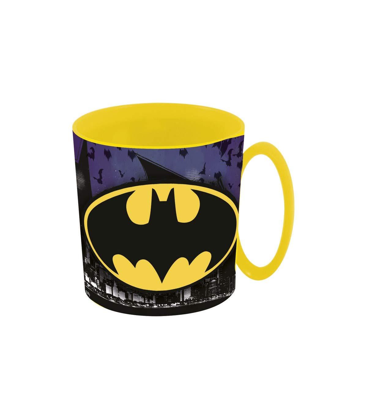 ALMACENESADAN 2108; Taza Apta para microondas Batman; 350 ml; no Apto para lavavajillas; Producto de plástico; Libre BPA