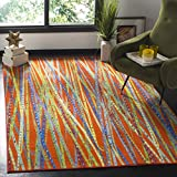 Safavieh Aztec Collection AZT208A Orange and Multicolored Area Rug (8' x 10')