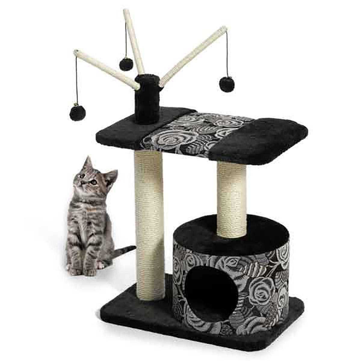 MD Group Cat Furniture Carnival MidWest Feline Sturdy Multi-tier Soft Bench Cat Lounging & Play