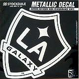 Los Angeles Galaxy LA 6'' Silver Metallic Mirrored Style Vinyl Auto Decal MLS Soccer Football Club