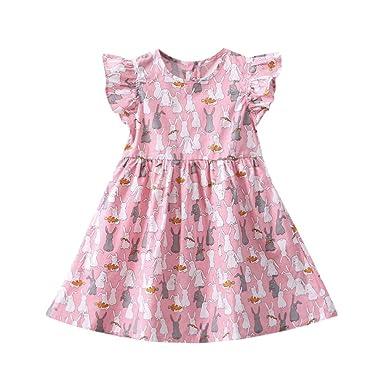 ef0b34fa86b1f Feiscat 赤ちゃん服 ワンピース 女の子 子供服 おしゃれ 超可愛い ノースリーブ ワンピースお出かけ 通園 通学 キッズ