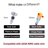 Wire Connectors - Pack of 12 Low Voltage T Tap Wire Connectors T Type 2 Pin Solderless No Wire - Stripping Required for Mid-span Branching in Wires Connection Fits 24-20 AWG Cable Wires