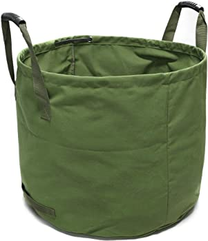 GearTaker 33-Gallons Canvas Reusable and Collapsible Garden Waste Bag