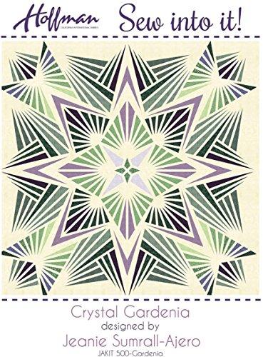 Bali Batiks 1895 Crystal Gardenia Quilt Kit Hoffman Fabrics JAKIT-500 by Hoffman Fabrics (Image #2)