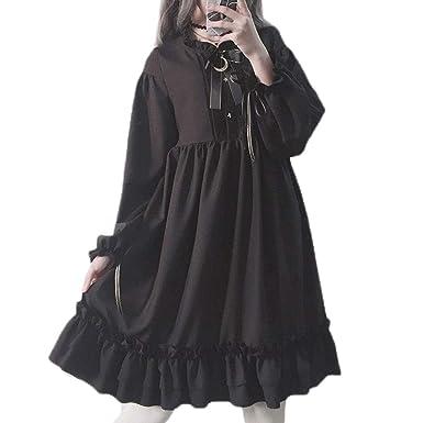 50f858df3b7 Amazon.com  Packitcute Long Sleeve Dress Teen Girls Japanese Gothic ...