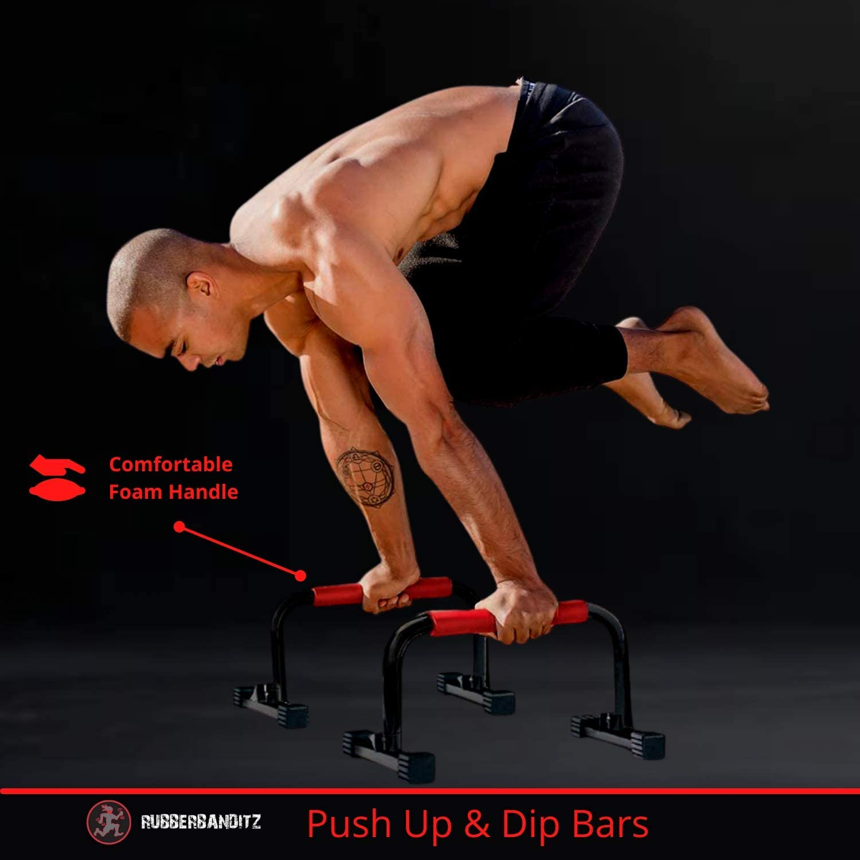Balance Push Up Gymnastics Dip Bars Parallettes Crossfit Training P-Bars