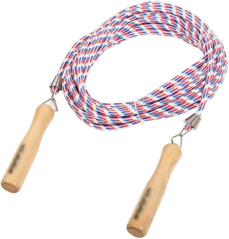 LASTARTS Salto Mango de madera Entrenamiento con cuerda de algodón ...