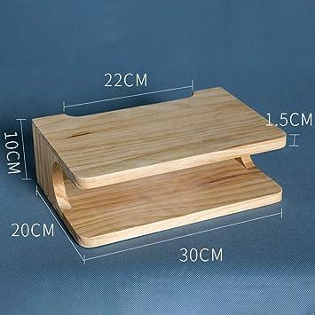 MDD Estante Soporte para televisor de madera flotante Montado en la pared, de madera para sala de estar Accesorios multimedia Accesorios para rack Ahorro de espacio en rack y fácil de instalar: