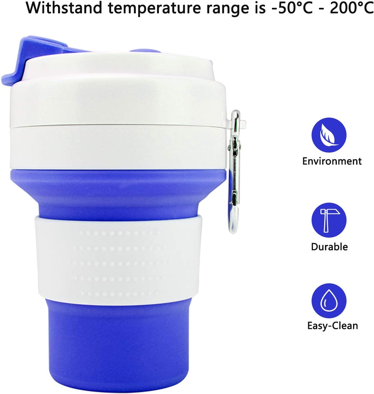 Original Innovative Telescopic Portable Water Cup,Collapsible Water Bottle,Silicone Collapsible Travel Cup for Outdoor Camping and Hiking,Travel Cup,Collapsible Cup,Camping Cup,Foldable,Easy to Carry