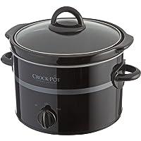 Crock-Pot Olla de cocción Lenta SCCPQK5052B 2,4L Negro 210 W Tapa de Vidrio Templado