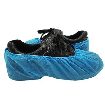 4580ff5b838a Union Tesco 100 Pcs Premium Disposable Shoe Covers   Overshoes. Strong  Floor