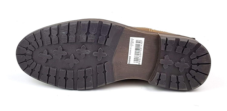 Oaktrak Oakham Boys Kids Tan Brown Black Leather Pull on Chelsea Dealer Boots