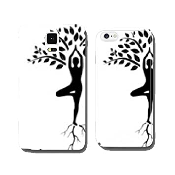 yoga tree pose silhouette cell phone cover case iPhone6 Plus ...