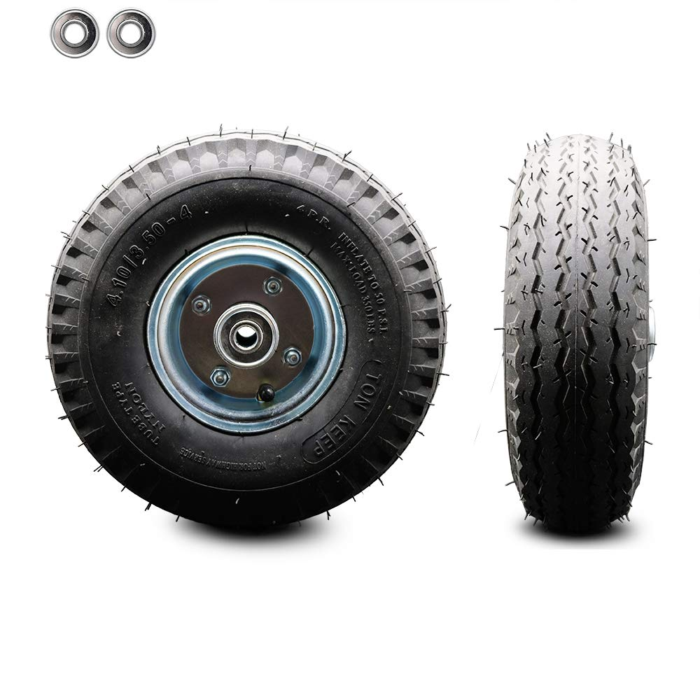 8 x 2.5 Pneumatic Wheel Only with a 3.1875 Centered Hub and Ball Bearings Service Caster Brand 300 lbs Capacity per Wheel