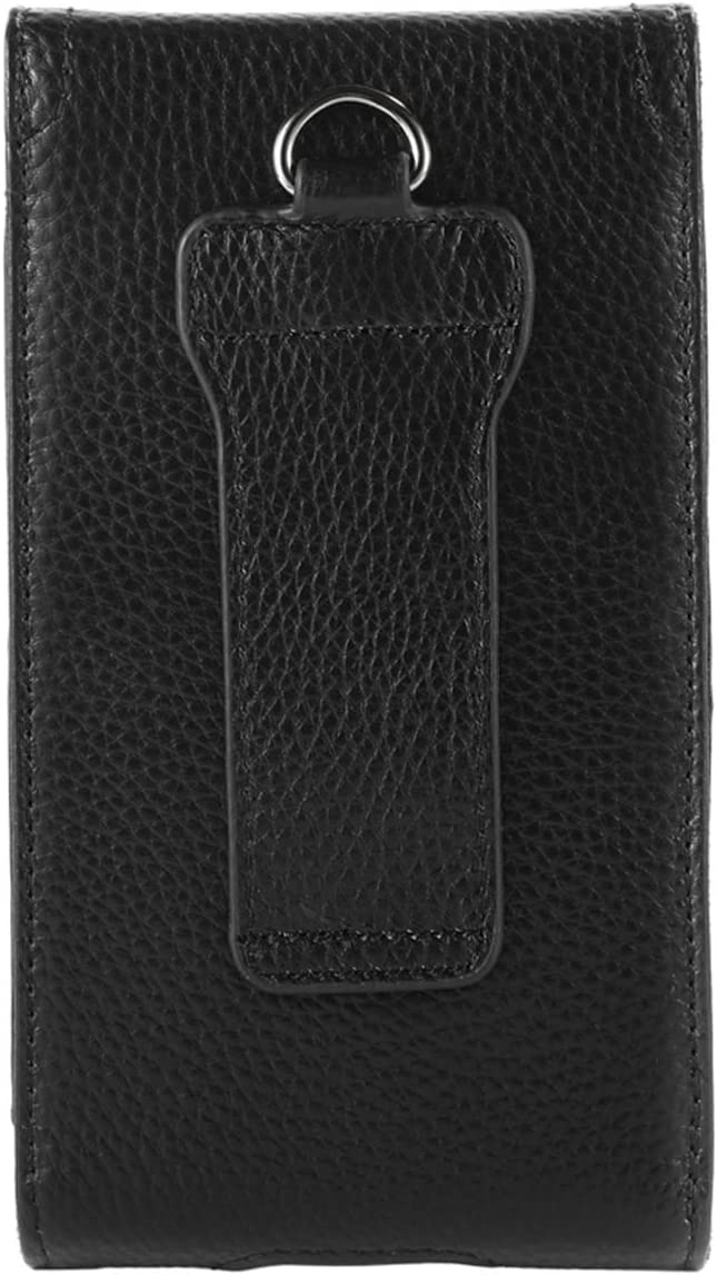 VIIGER iPhone 11 Pro Max Holster Case Leather Phone Case Belt Pouch Holder iPhone Xs Max Belt Case Cellphone Belt Clip Holster Belt Loop Pouch Bag for iPhone XR 8 Plus 7 Plus 6 Plus with case on,Brown