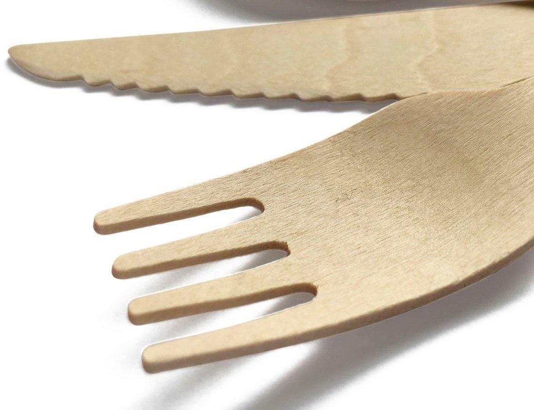 Amazon.com: Biodegradable compostable tenedor y cuchillo ...