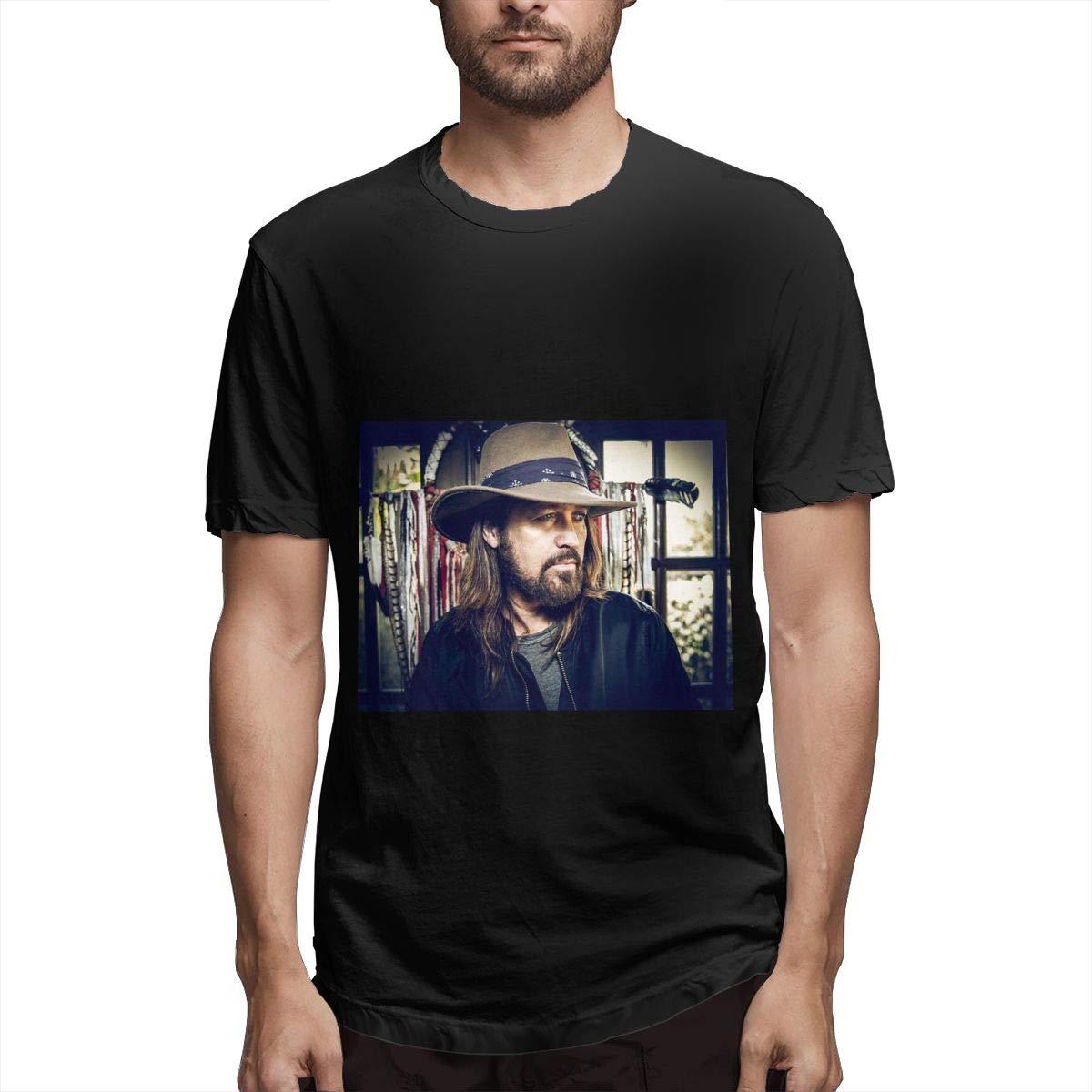 Lihehen Mans Billy Ray Cyrus Retro Printing Round Neck Tees Shirts