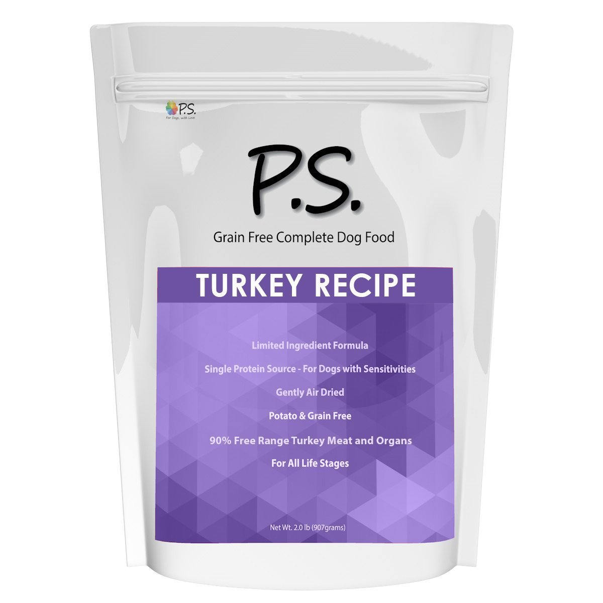 PS For Dogs 100% Hypoallergenic Dog Food - No More Paw Licking & Skin Scratching – Solves Allergies Naturally - No More Harmful Shots, Pills & Expensive Prescription Food, Turkey Recipe