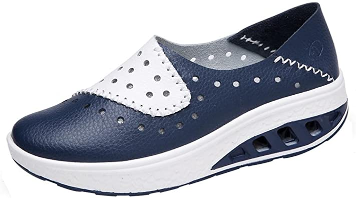 Zapatillas Para Mujer Otono Paolian Zapatos De Cuero Cuna Con Plataforma Comodos Espadrilles Moda Calzado De Dama Blancas Calzado De Trabajo Hueco Baratos Tallas Grandes Amazon Es Zapatos Y Complementos