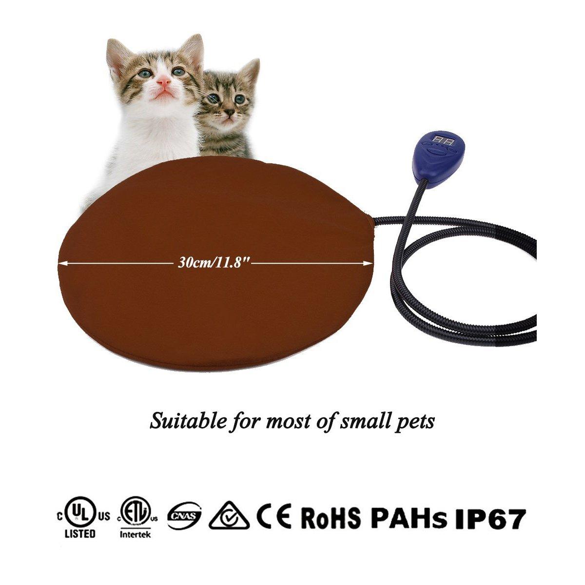 Azul 30*30cm Qius home Coj/ín de calefacci/ón el/éctrica para mascotas,Almohadilla de calentamiento para Perros y Gatos con 7 Niveles de Temperatura Ajustables