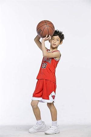 T-MIX Niños Chicago Bulls Jorden # 23 Kobe#24 James#23 Conjunto de Camiseta de Baloncesto Chaleco & Pantalones Cortos Cómodo para Chicos: Amazon.es: Deportes y aire libre