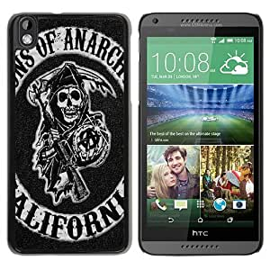Custom-ized Phone CaseSons of Anarchy Logo Black HTC Desire 816 Protective Phone Case