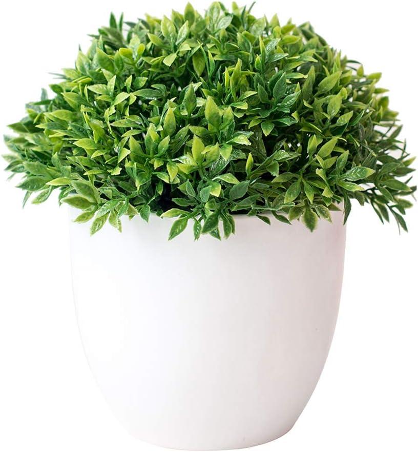 YH Piante in Vaso di plastica Artificiale Mini Piante Verdi finte con Vaso per la Decorazione dello scaffale del Bagno del Ministero degli Interni