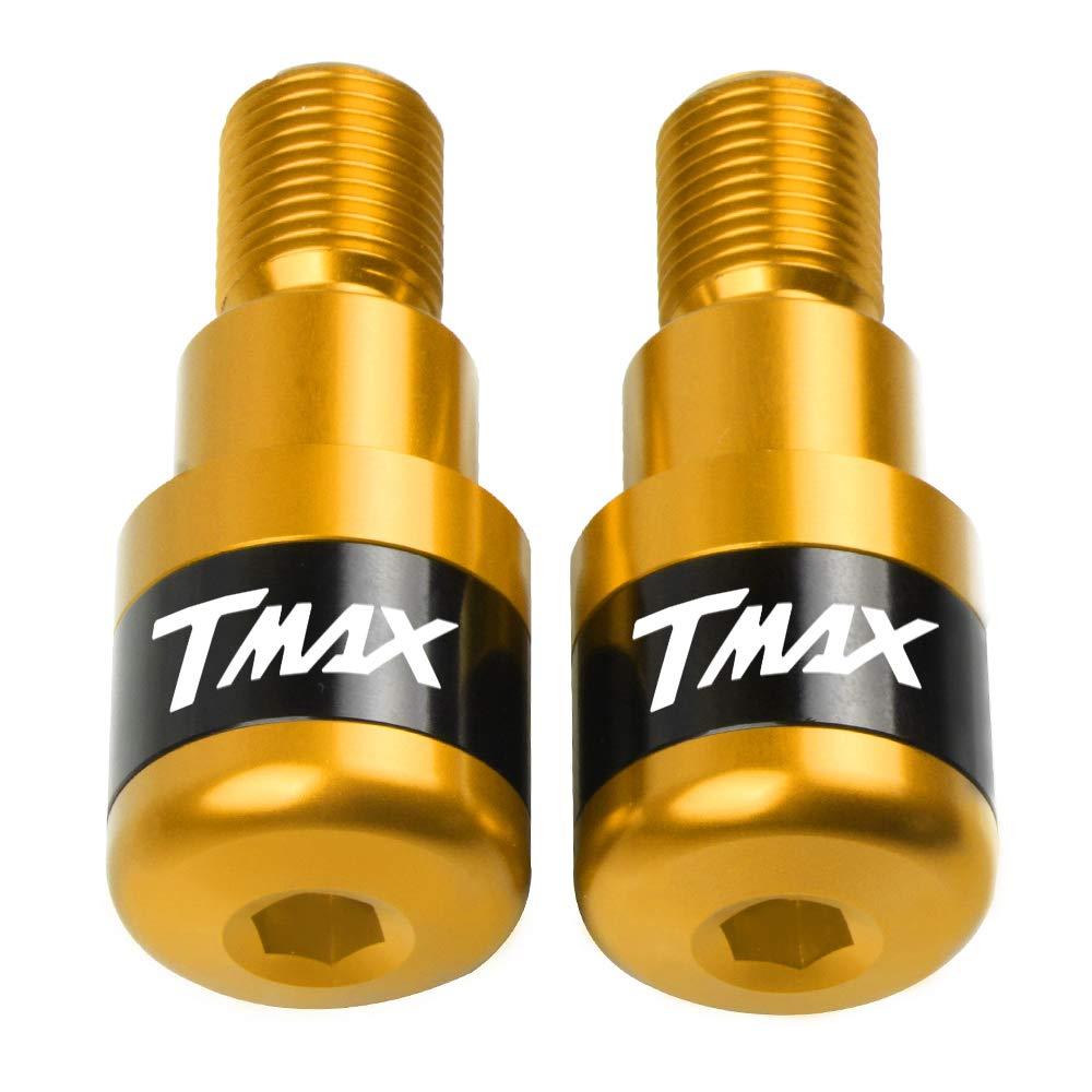 Tmax 500 530 Moto Extr/émit/és du Guidon en Aluminium Poign/ée de Guidon Embouts pour Yamaha T-Max 530 tmax530 2006-2016,T-Max 500 tmax500 2008-2016 Rouge