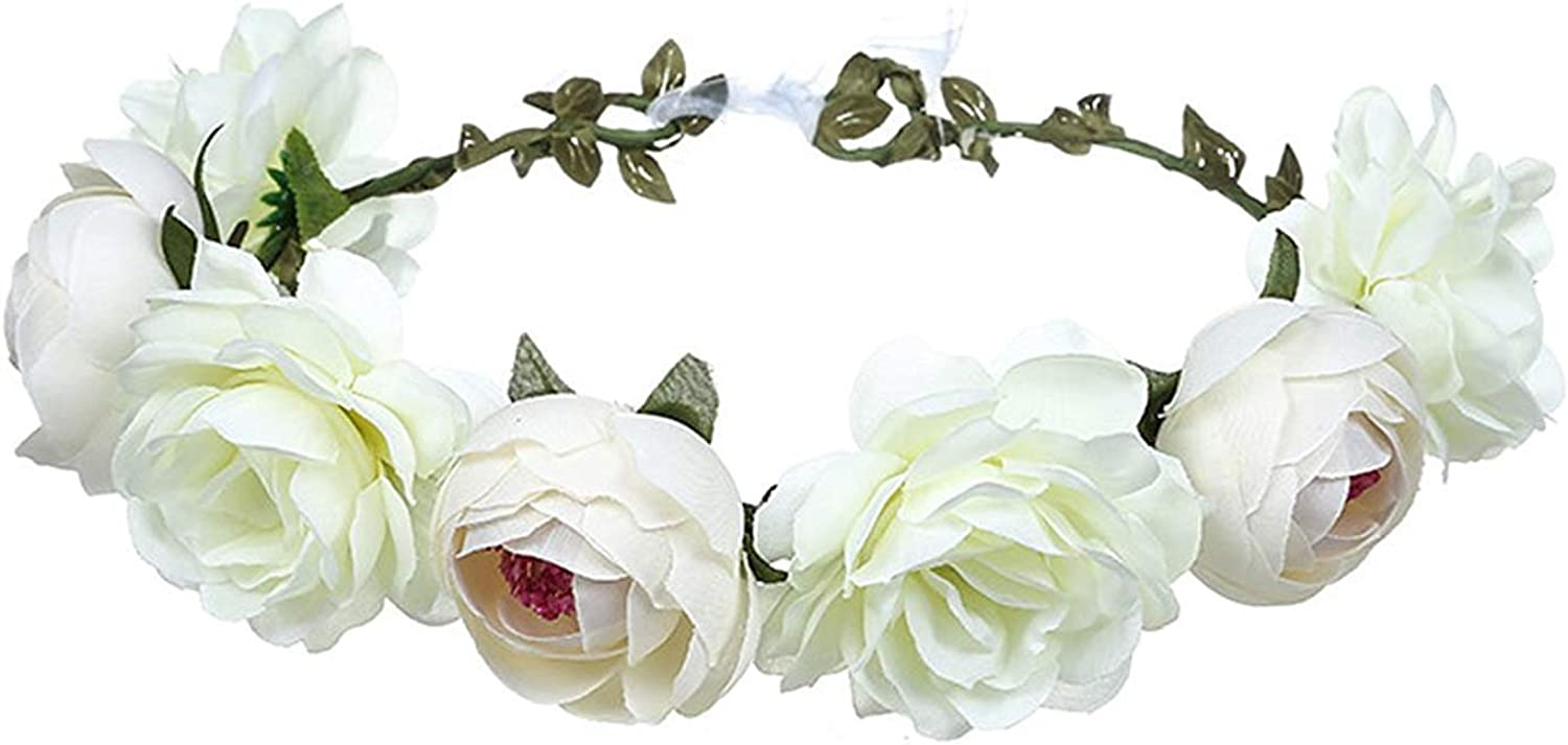 Women Rose Floral Crown...