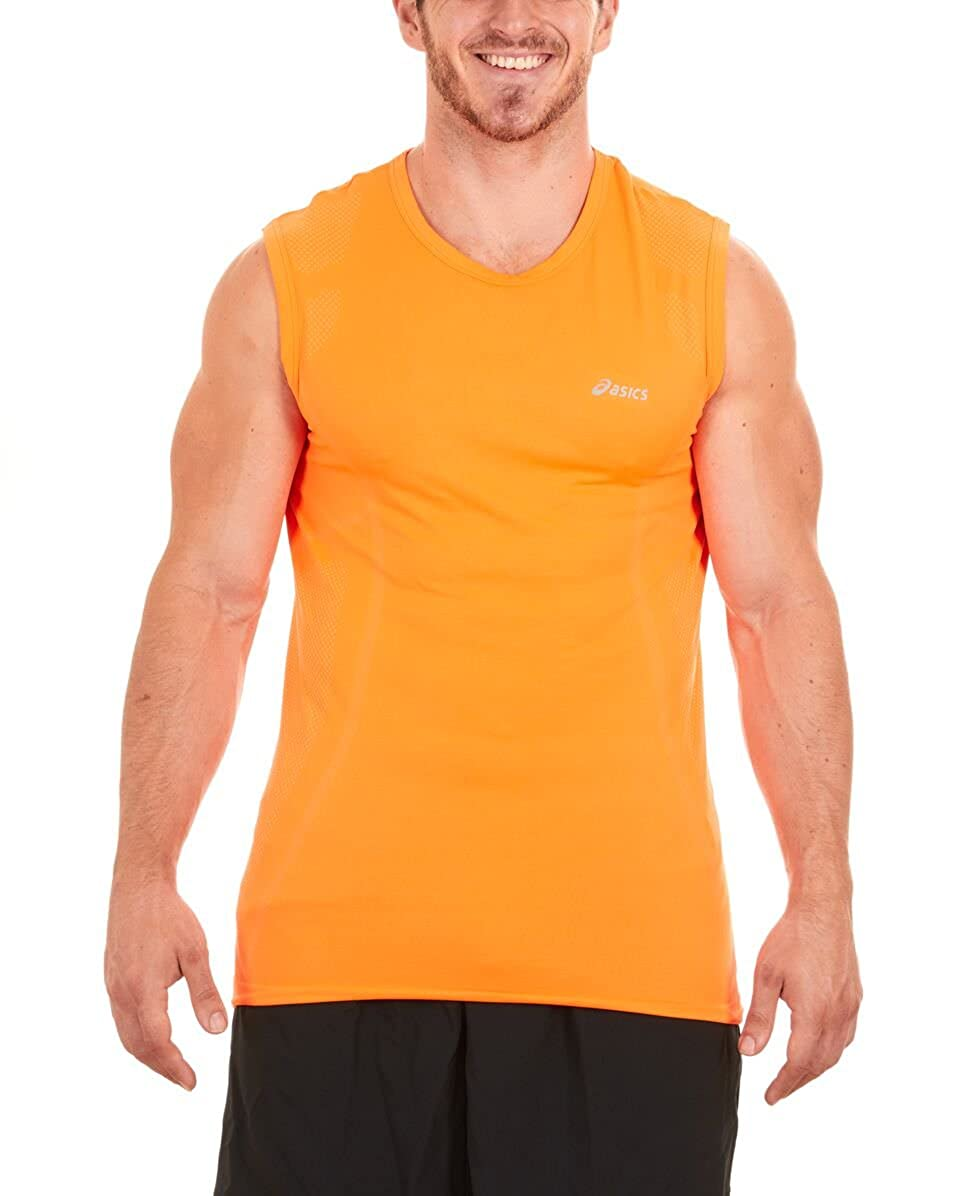 fb1ed7dbf8ccf FEATURES - Asics Sleeveless Shirts have a natural stretch for greater range  of motion in every workout. ASICS Athlete Sleeveless Top are very famous  for ...