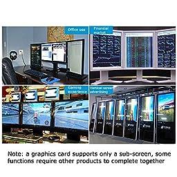 ProCIV USB 3.0 to HDMI External Video Card-HDMI Display Extender Multi Monitor Adapter, Silver