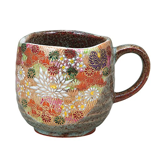 Pottery Mug - Kutani Yaki(ware) Coffee Mug Gold Flower