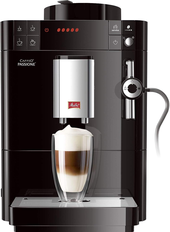 Melitta Caffeo Passione-Cafetera (Independiente, Negro, Espresso machine, Granos molido, Capuchino, Café, Agua caliente, 1,2L), 1450 W, 1 cups, plástico: Amazon.es: Hogar