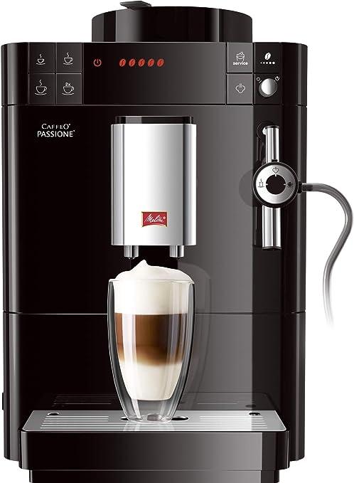 Melitta Caffeo Passione-Cafetera (Independiente, Negro, Espresso ...
